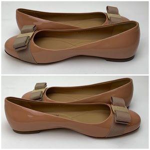 Salvatore Ferragamo Shoes - SALVATORE FERRAGAMO Varina Leather Flat sz 6